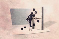 Le réparateur de domino - 24x30 cm déco originale, décoration, photographie d'art : Photos par balies-photos-d-art