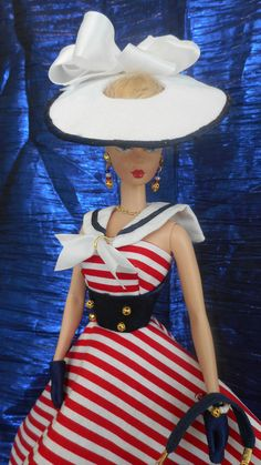Silkstone OOAK Vintage Barbie Dress Reproduction Barbie Clothes Fashions by Mary