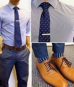 I'm looking for a business casual men's dress trouser preferably in blue or grey (something I can wear with brown shoes)