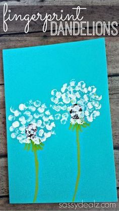 fingerprint dandelion craft for kids #craftsforkids