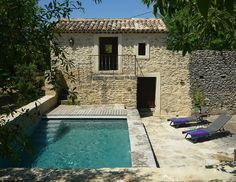 Mas La Jasse - Provence and Cote d& - Gite Rural, French Exterior, Rural House, Small Pools, Beautiful Pools, Swimming Pool Designs, French Cottage, Stone Houses, Pool Houses