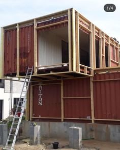 Container Homes Cost, Building A Container Home, Container Cabin, Container House Design, Converted Shipping Containers, Shipping Container Buildings, Shipping Container Home Designs, Contener House, Detail Architecture