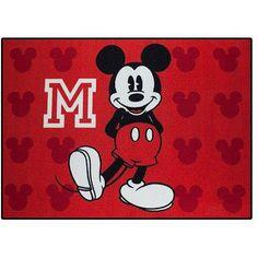 Disney's Mickey Mouse Nylon Room Rug, inch x inch, Multicolor Mickey Mouse Lamp, Mickey Mouse Classroom, Mickey Mouse Decorations, Mickey Mouse Images, Disney Mickey Mouse, Minnie Mouse, Mickey Bathroom, Baby Disney, Disney Pics