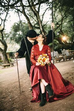 This Adorable Couple Ties the Knot in Perfect Princess Bride Wedding #romance trendhunter.com