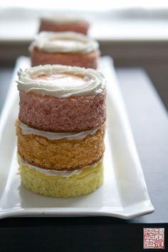 Guava Mango Passionfruit Mini Cakes via Dessert First blog