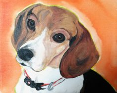 Beagle Baby painting