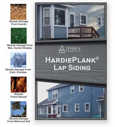 The most popular siding for homeowners and contractors alike, HardiePlank lap siding has become a benchmark of quality and value. This cedar-based fiber cement siding is rot resistant, warp resistant, and low-maintenance all with an exceptionally long 50-year life. Just some of the many reasons why you should choose HardiePlank lap siding when building or improving your residential or commercial property in Boston, MA Wood Shingles, Wood Siding, Vinyl Siding, Siding Contractors, Shake Siding, Fiber Cement Siding, Pvc Trim, House Siding, Stone Veneer