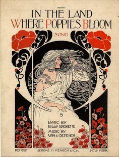 """Képtalálat a következőre: """"art nouveau poppies"""""""