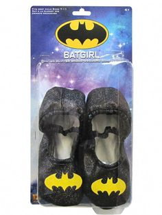 2ef93a2ff07a Batgirl - Classic Glitter Slipper Shoes Child One Size
