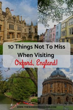 Oxford is the perfect City to visit on a day trip from London by train or by bus. Once you're there there is a lot to do. There are many tourist attractions but here are 10 things not to miss in Oxford that are a bit different and unique! Europe Destinations, Europe Travel Tips, Travel Guides, Travelling Tips, Travel Packing, Budget Travel, Sightseeing London, London Travel, Backpacking Europe