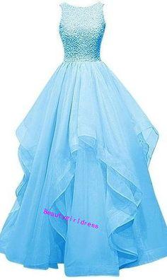 Asymmetric Long Evening Gown Prom Dress Beaded Bridesmaid Dress Custom Made Size Pink Evening Gowns, Beaded Evening Gowns, Pink Gowns, Beaded Prom Dress, Beaded Gown, Dress Prom, Dress Long, Long Dresses, Pink Dress