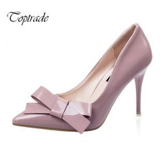 Find More Women's Pumps Information about New women pointy patent leather with big bowtie sweet high heels design women party work dress shoes sapatos feminino pumps34 39,High Quality leather seating,China leather vinyl repair kit Suppliers, Cheap leather slingback from Toptrade Co.,ltd on Aliexpress.com
