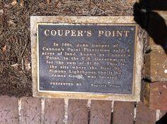 Couper's Point historic plaque on #StSimons Island, GA