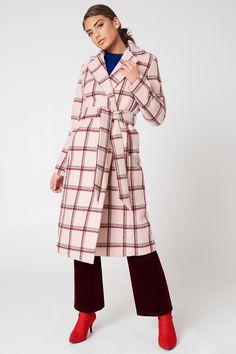 Checked Long Coat | na-kd.com