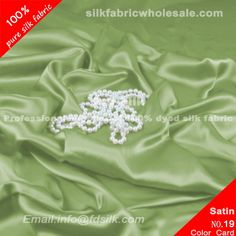 Pea Green silk charmeuse fabric for women silk wedding dresses. Silk Satin Fabric online in high quality