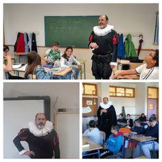 BIBLIOTECA I.E.S. FEDERICO GARCÍA LORCA: Día Internacional del Libro: Nos visita MIGUEL DE CERVANTES