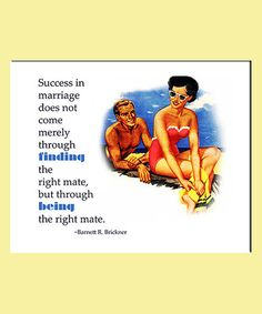 Take a look at this 'Success in Marriage' Print by Betty's Print Shop on #zulily today!