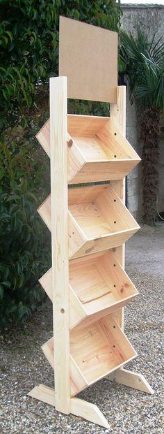 Présentoir bois avec impression couleur par www.mabouteille.fr
