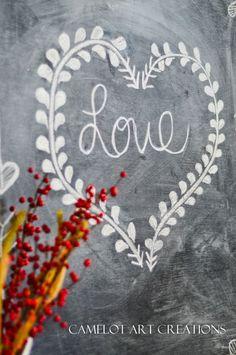 We've been loving the vintage v-day chalkboard designs