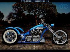 Moto : Illustration Description Image detail for -Outlaw Custom Trike Motorcycle by on deviantART Custom Trikes, Custom Choppers, Custom Harleys, Bobber Motorcycle, Cool Motorcycles, Harley Davidson Trike, Hot Bikes, Bike Accessories, T Rex