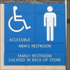 Many signs jigsaw-puzzle so you can Take Your Choice Of Restroom Facilities. Put the pieces together differently, you can spell out different arrangements Close Up