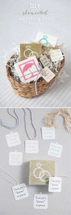 DIY Stenciled Wedding Soap Favors | 24 DIY Wedding Favor Ideas