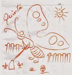 desenho da semaninha da borboleta quinta feira