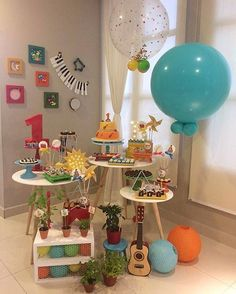 Music Theme Birthday, Music Party, Birthday Party Themes, First Birthday Parties, Simple Birthday Decorations, Woodland Party, Baby Party, Party Time, First Birthdays