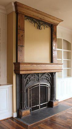 Steel & Wood Fireplace by Maynard Studios