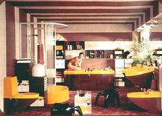 70's interior design - Buscar con Google