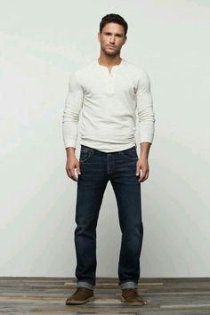 I like the color of this shirt: and the style. The jeans are great too.