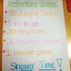 Before the shower! I wonder if I can do this?