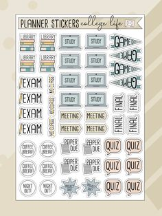 To Do Planner, Small Planner, Student Planner, Life Planner, College Planner, Planner Ideas, Monthly Planner, Happy Planner, Calendar Stickers