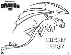 HOW TO TRAIN YOUR DRAGON coloring pages - Nightfury