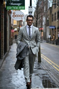Day 3 of the London Collections: Men  The Urban Spotter  Model: David Gandy
