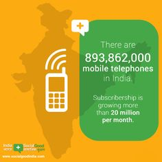 There are 893.8m mobile phones in #India. Learn more about tech & #India at India +SocialGood: http://trib.al/mlziaVN  pic.twitter.com/I9FLiALmh9