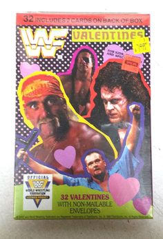WWF Valentines Cards Factory Sealed Box 1992 Grand Award 32 Cards