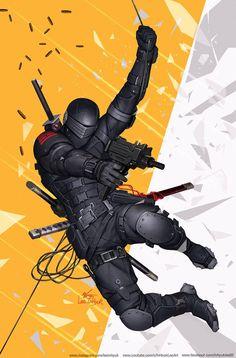 Arte Ninja, Ninja Art, Character Concept, Character Art, Character Design, Comic Books Art, Comic Art, Snake Eyes Gi Joe, Cyberpunk