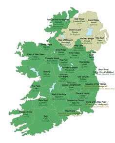 Irish map with meanings of county names. Loved Dublin and Naas, Kildare. Highly recommend the Four Seasons in Dublin! Wales, Irish Names, Irish Language, Irish Roots, Thinking Day, England, Emerald Isle, Ireland Travel, Ireland Map