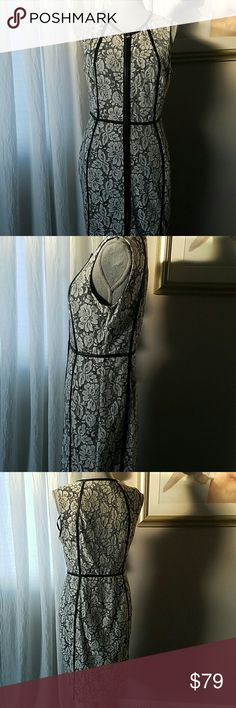 Calvin Klein Leather & Lace Dress A-1 Perfect Condition. Just Gorgeous, Edgy and Feminine ❤ Calvin Klein Dresses
