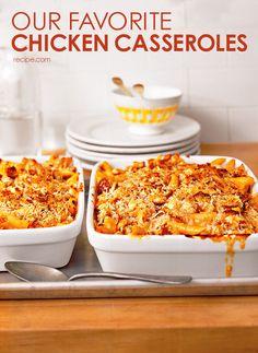 Our top 10 favorite chicken casseroles.