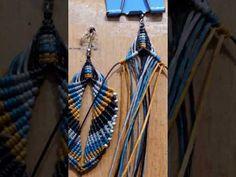 Macrame feather earrings - YouTube