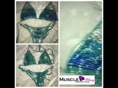 You can get this suit in this color or any other color combo you desire. Under the lights this suit is amazingly sparkly. Npc Bikini Competition, Figure Suits, Bikini Competitor, Under The Lights, Color Combos, Aqua, Bikinis, Youtube, Muscle