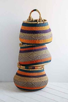House Of Talents Handwoven Basket- Multi One from Urban Outfitters. Shop more products from Urban Outfitters on Wanelo. Rope Basket, Basket Weaving, Hand Weaving, Woven Baskets, Arte Popular, Home Accessories, Traveling By Yourself, Urban Outfitters, Creations