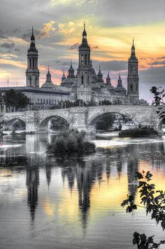Reflections of Zaragoza, Spain