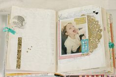 pages from the  {happy little moments } altered book by todido