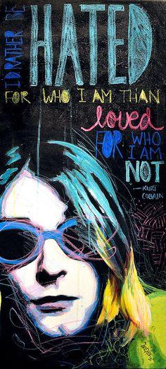 Kurt Cobain Painting  - Kurt Cobain Fine Art Print