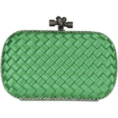 Bottega Veneta Clutches (27.874.030 VND) ❤ liked on Polyvore featuring bags, handbags, clutches, irish green, bottega veneta handbags, bottega veneta, box clutch, green purse and green handbags