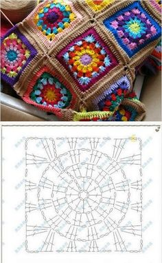 Crochet niffler cardigan a punto alternato a zig zag nunzia valenti – Artofit 33 Crochet Patterns for Covers Granny Crochet Granny Square - Chart by SAburns, Sweet crochet square chart pattern - Image gallery – Page 840836192902409093 – Artofit Crochet Squares, Granny Square Crochet Pattern, Crochet Blocks, Crochet Diagram, Crochet Chart, Crochet Granny, Crochet Motif, Granny Squares, Granny Granny