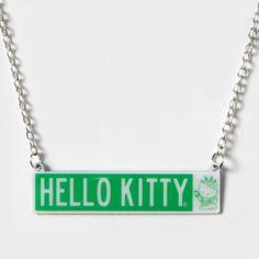Hello Kitty Takes Manhattan Plate Necklace